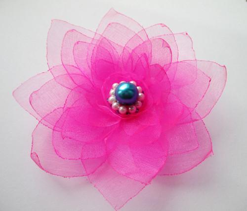 \'Neonka\', květina z organzy