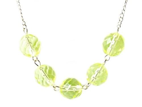 Elegantní zelený náhrdelník