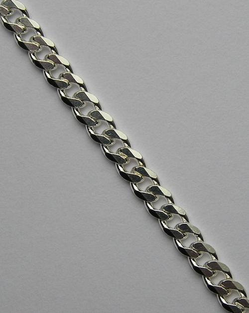 Silný stříbrný řetízek - délka 45cm