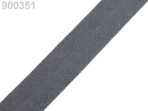 Šikmý proužek 14 mm zažehlený (5m) - Steel Gray
