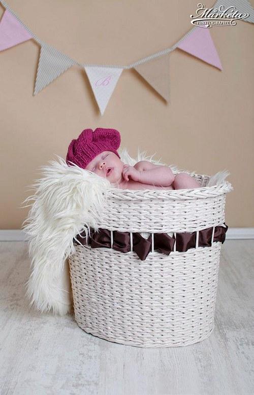 Pletený baretek 0-3m