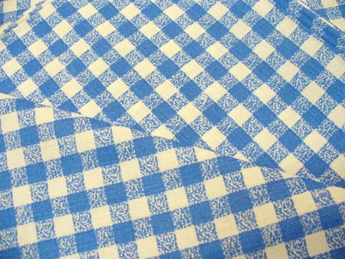 100 % bavlna modré káro