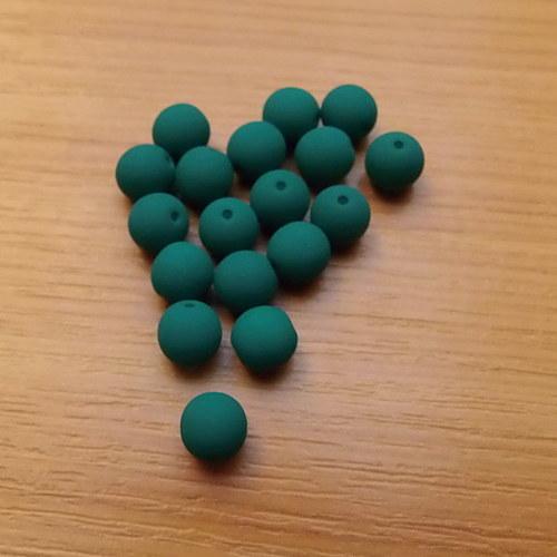 Neonové kuličky 6mm - tmavě zelené