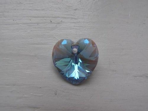 Swarovski srdce 18 mm - Aquamarine AB