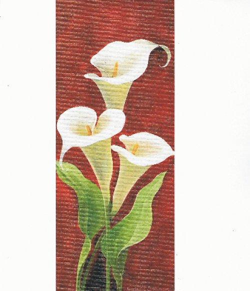 Reprodukce - tisk - Bílá kala 10x25cm - 0257A