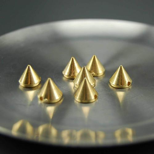 Trn našívací 10x10mm, 10ks, zlatá