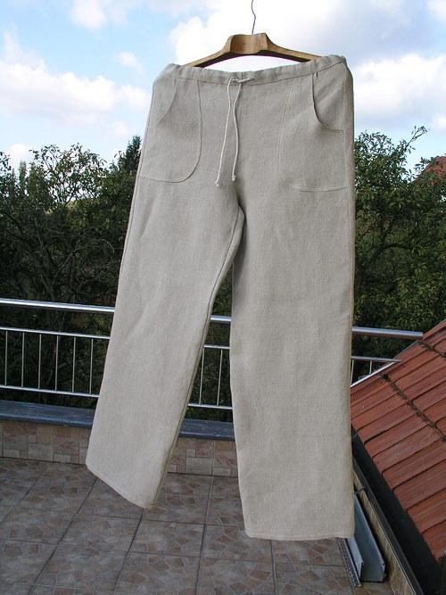 Lněné kalhoty ze 100% lnu vel. S - M