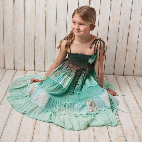 šaty na ramínka - vel.116/128