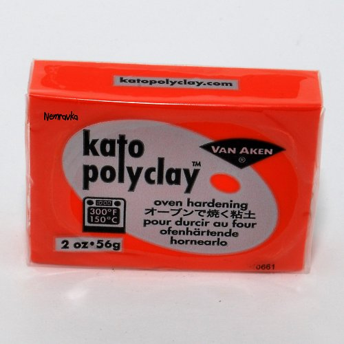 Kato Polyclay / profi polymerová hmota / Oranžov