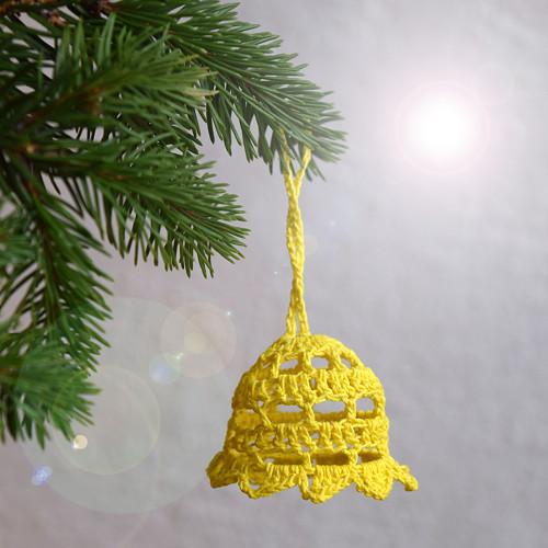 Vánoční zvonek 2 - žlutý