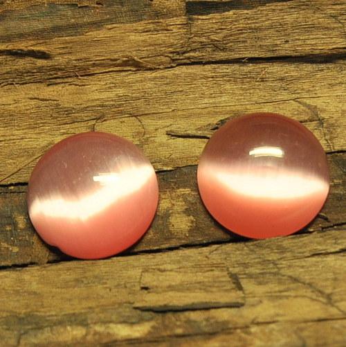 Luxusní kabošon 20 mm/růžová
