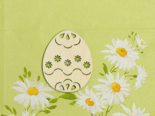 Vajíčko 6,5cm - výřez kytiček vzor č.2