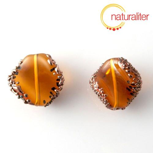 Vinutá perla oranžová