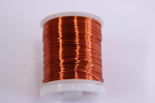 Měděný drátek 0,5mm - oranžový, návin 19-21m