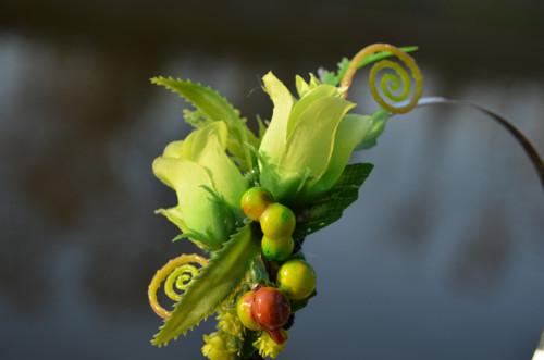 Zelená růže - čelenka