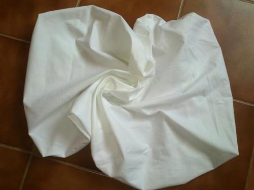 Plátěné bílé prostěradlo na matraci 200/90cm