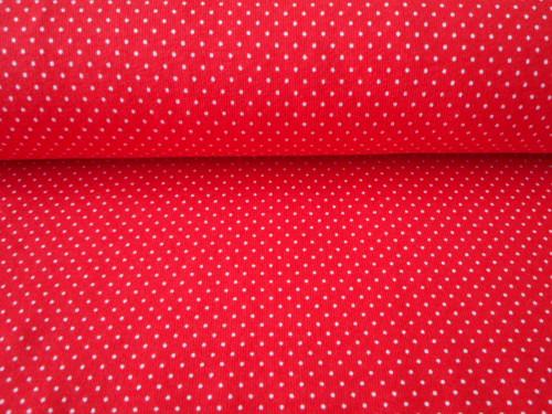 Úplet - bíločervený puntík