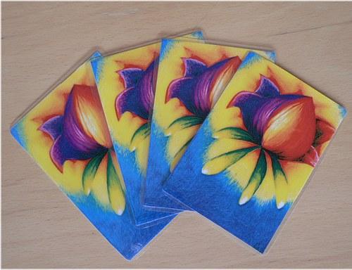 Nebeský květ - kartička