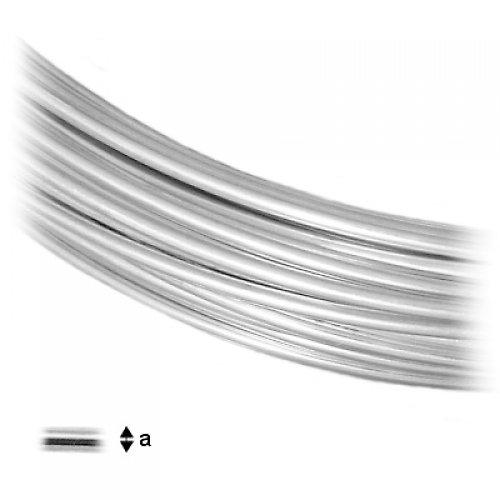Drát stříbro 0,7 mm,  10cm
