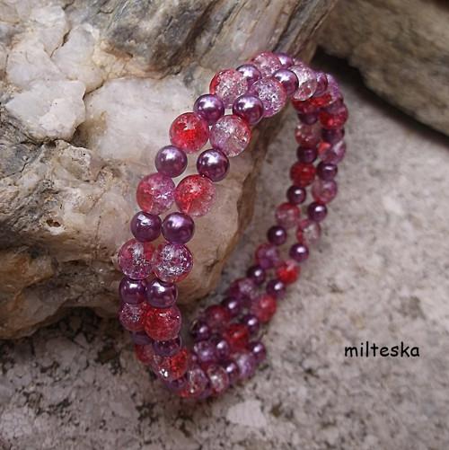 náramek- duhový růžovofialový