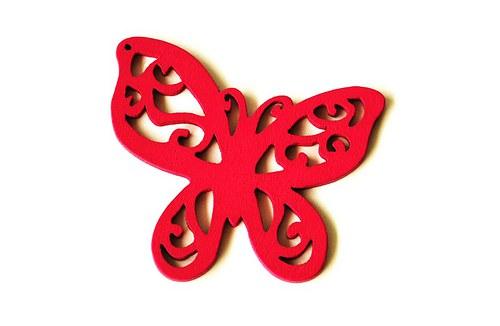 dřevění motýlci- sytě růžoví
