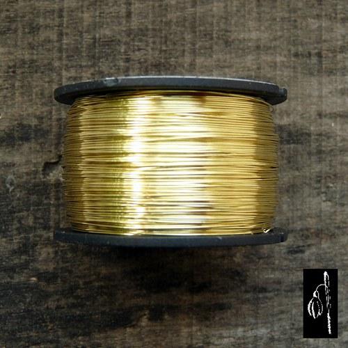 Mosazný drát 0,6, cívka 22 m