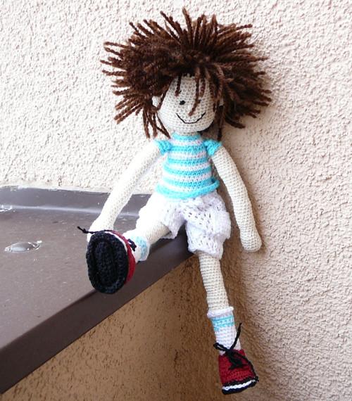 háčkovaná panenka-kluk