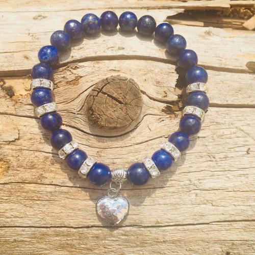 Andělský minerální náramek Lapis-Lazuli - Moře