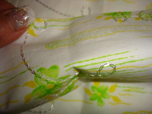 bavlna s výšivkou,cena za 10cm,šíře 140cm