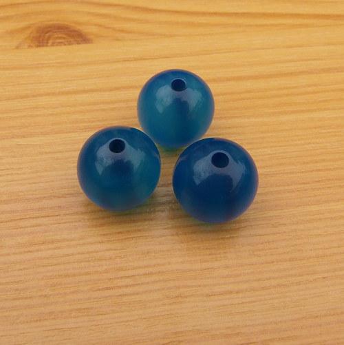 Korálky - resin - 16 mm - 5 kusů