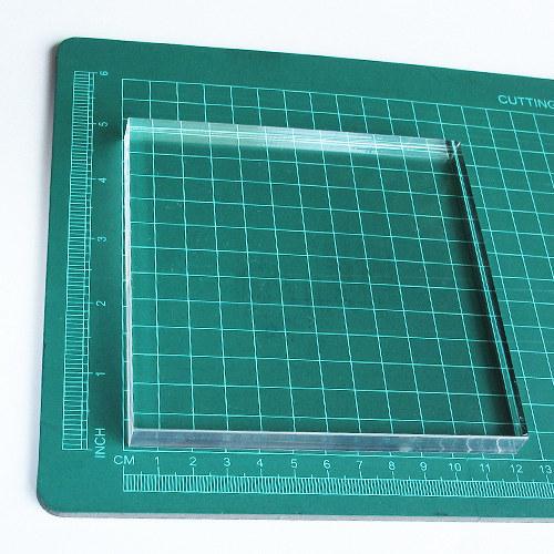Akryl. bloček pro razítkování (12 x 12 cm)