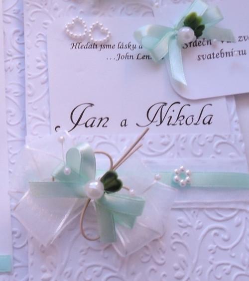 """svatební oznámení \""""Kapsa 5\"""""""