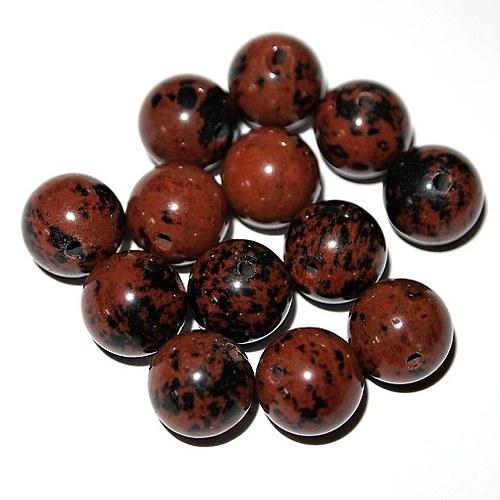 Obsidián Mahagony mahagon kulička 10 mm(cena 1 ks)