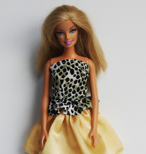 Tigrový top pre Barbie