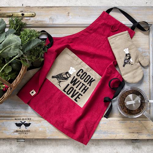 Cook with Love... dámská zástěra