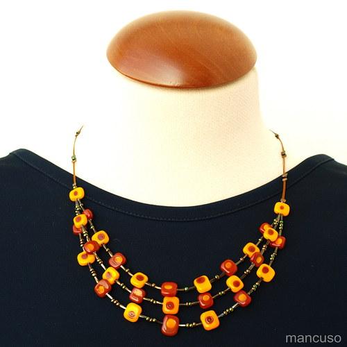 kostičkový náhrdelník III