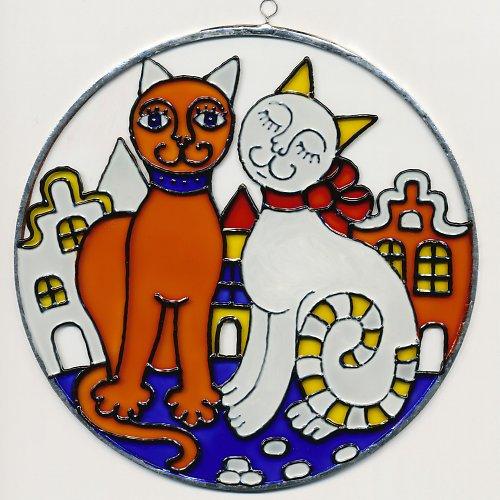 Obrázek malovaný na skle - kulatý ø13 cm
