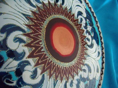 Mandala Červené Slnko nad Morom