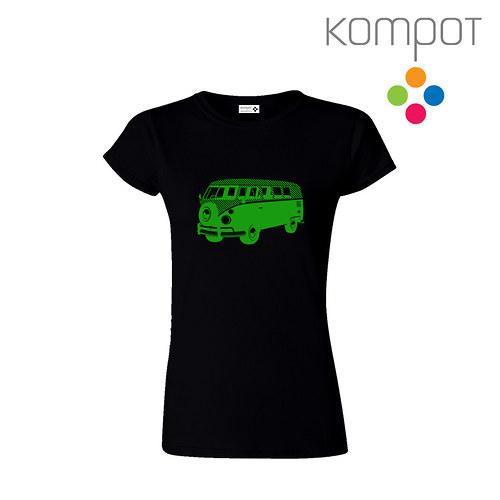 Dámské tričko MINIBUS :: černé, vel. S-XL