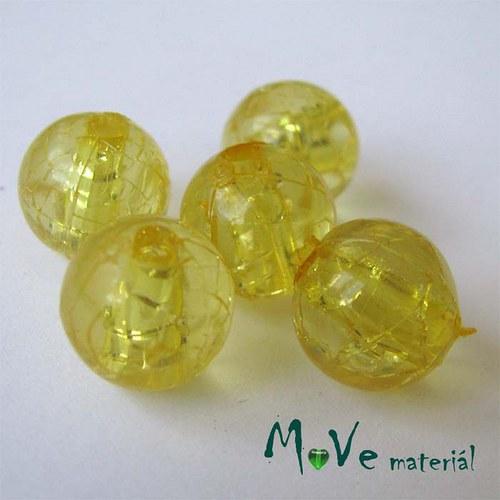 Korálek Krakl plast žlutý 10mm 6ks