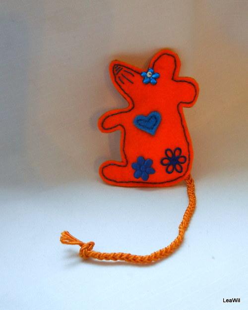 Myška/potkánek - brožka filc