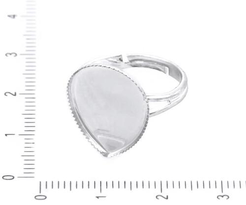2ks Stříbrné Pozlacené Nastavitelný Bezel Ring Zák