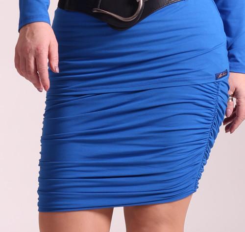 Pouzdrová řasená sukně s podšívkou
