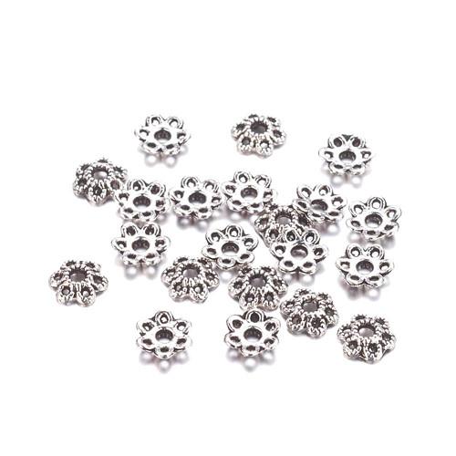Kaplík antické stříbro průměr 6 mm/10ks