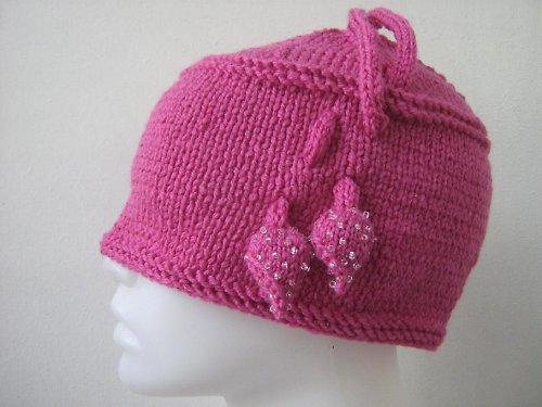 Pletená čepice - Pink