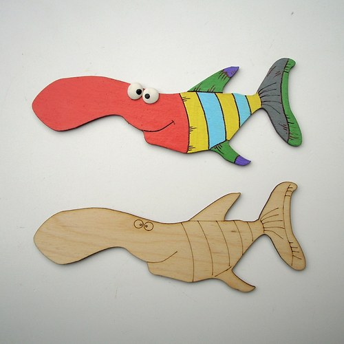 Vybarvi si pruhovanou rybu...  RV002