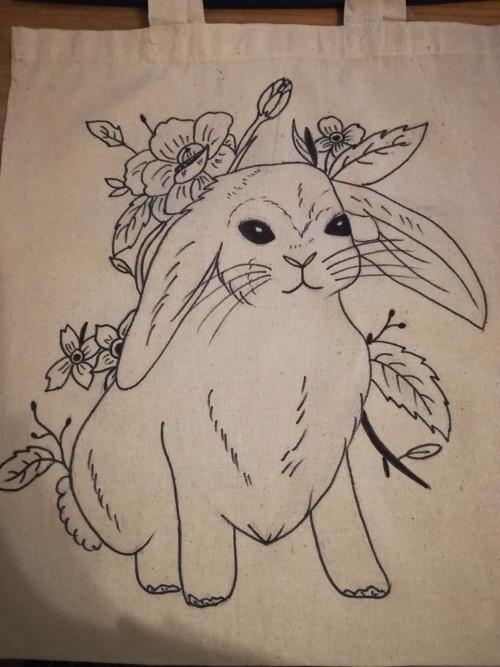 Plátěná taška - králík