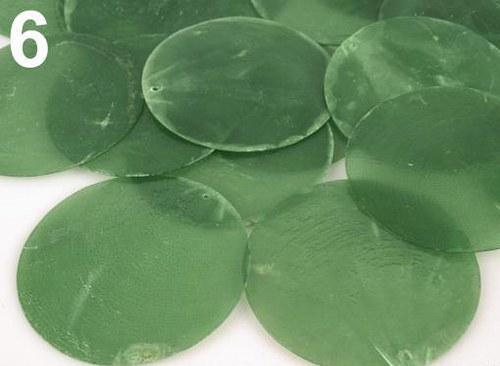 Přívěsek Ø65mm perleťová placka zelená