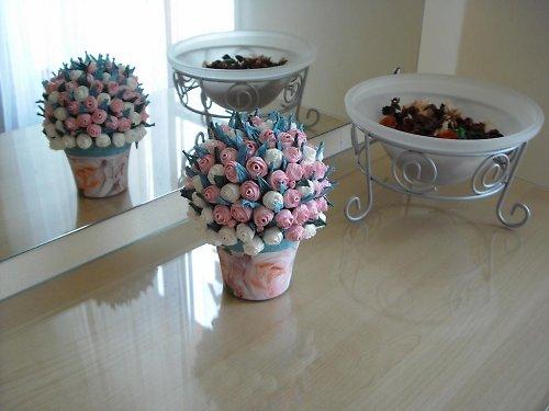 Mini růžičky - růžové