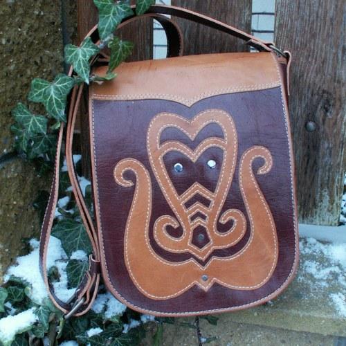 Arabesky - kožená kabelka